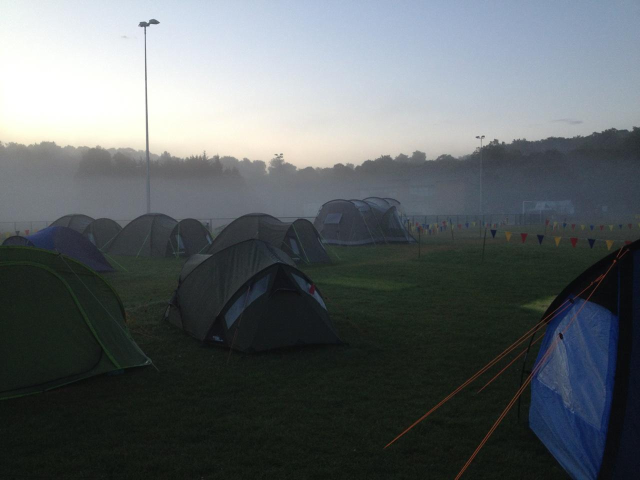 Early morning peace at Camping Ninja