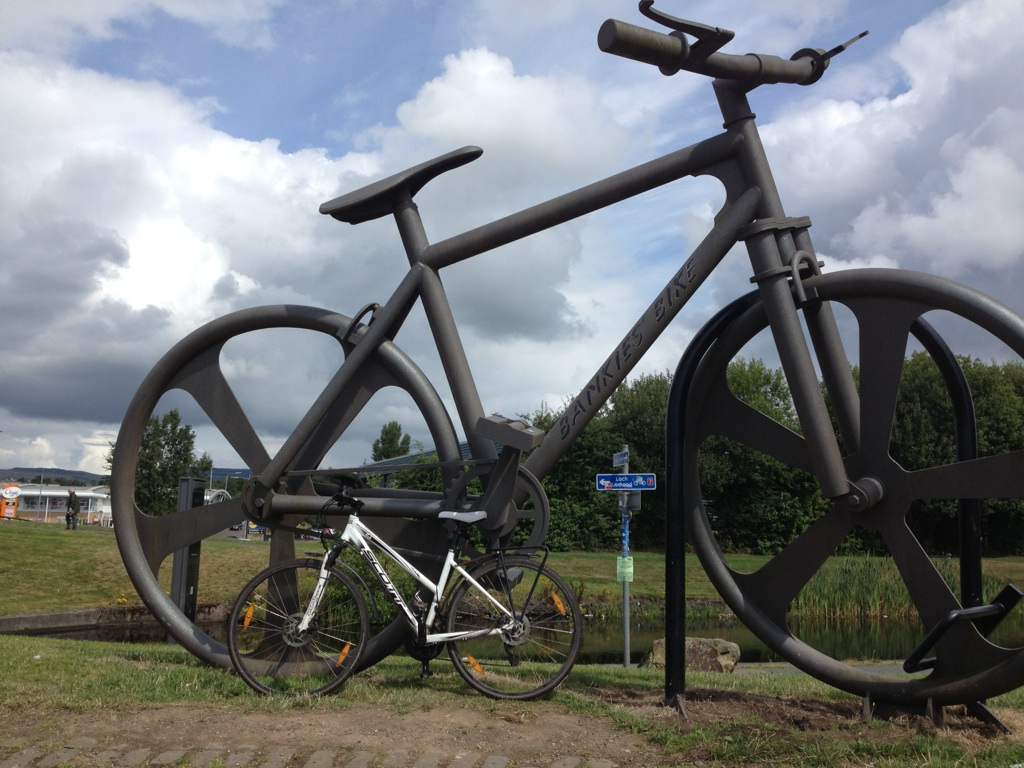 Cycle route sculpture on Route 7