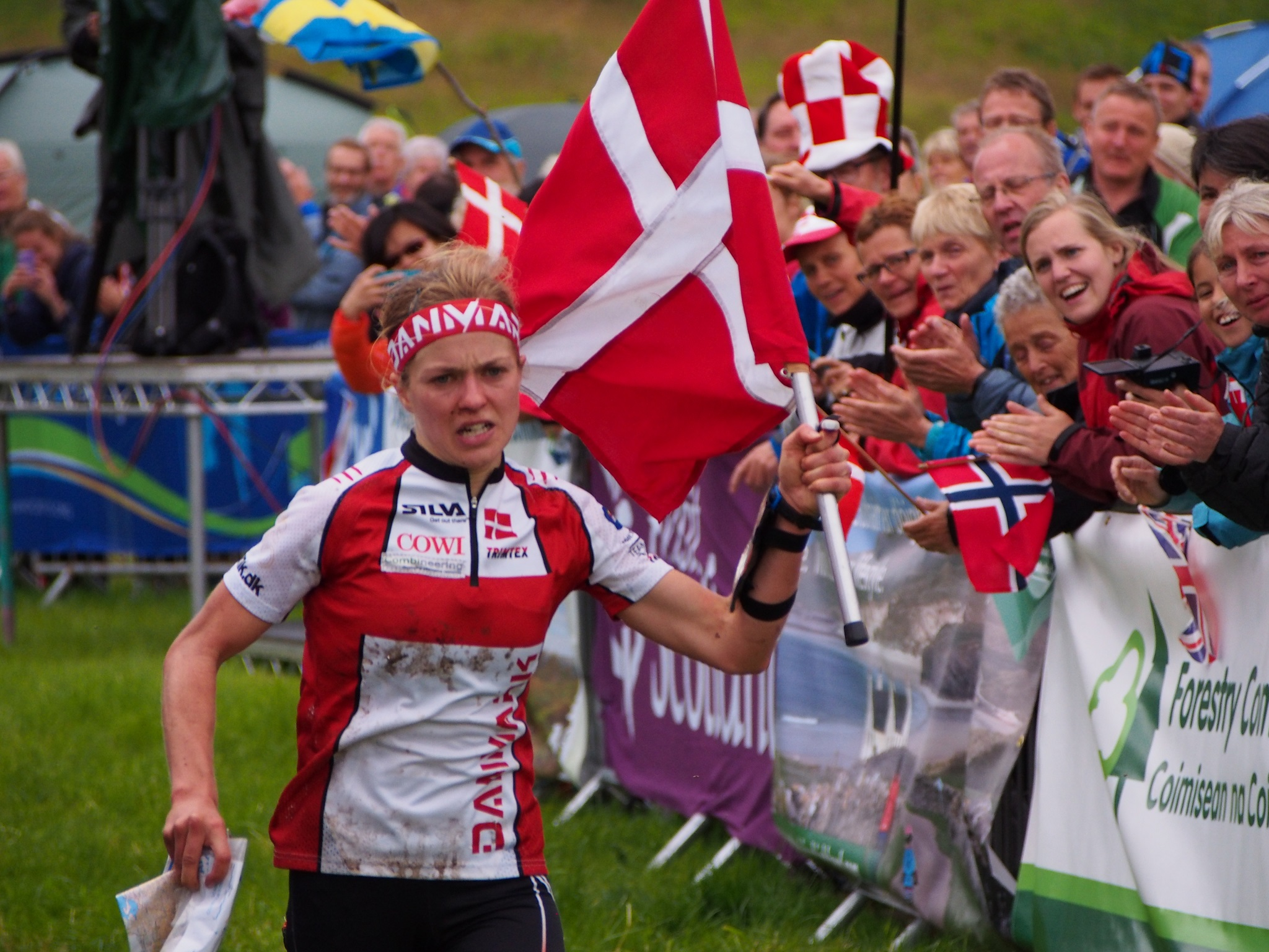 It was a good year for Denmark, Ida Bobach World Champion at the finish of the Long Race in Glen Affric. Courtesy Liveblog http://www.woc2015.org/liveblog/long